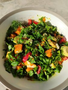 Green Salad with Squash